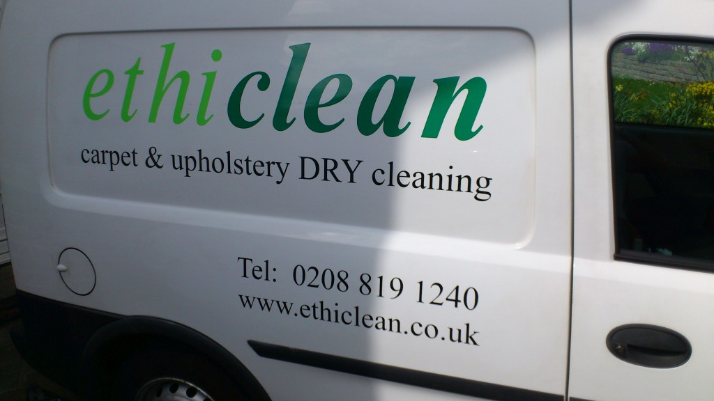 cleaning van stickers