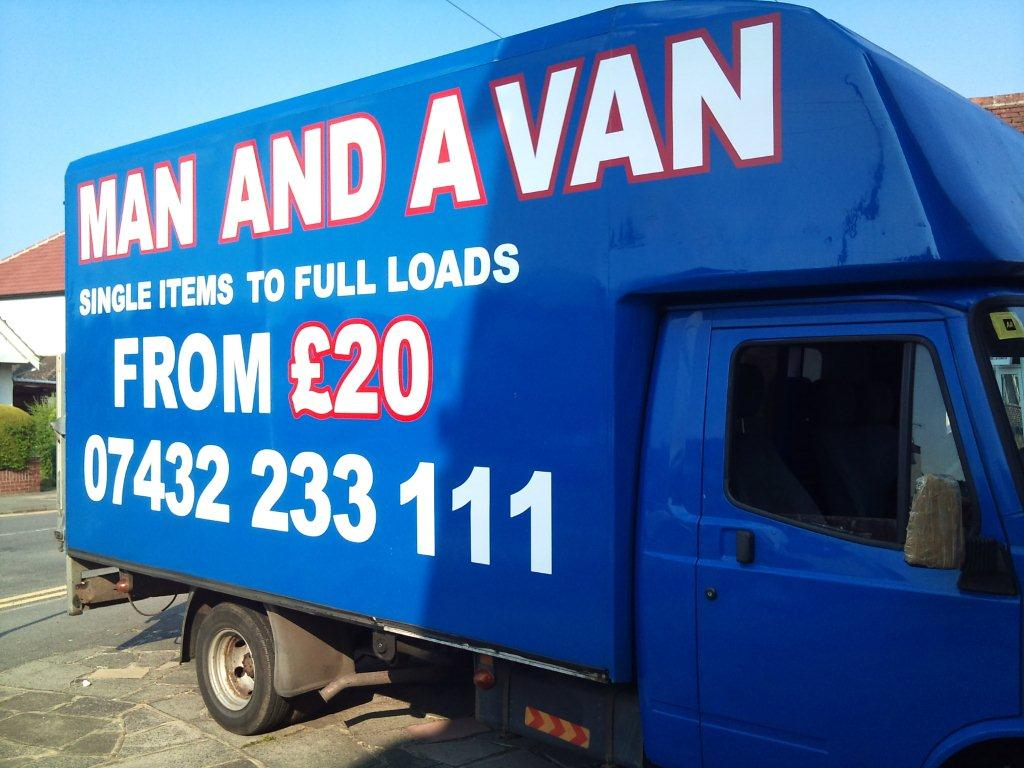 blue van graphics